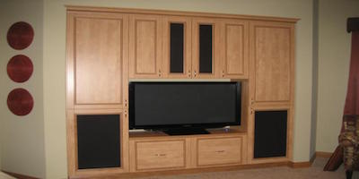 A Custom Entertainment Center That's Super Bowl Worthy